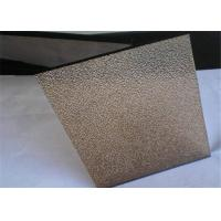 Cheap Smooth / Flat Surface Bronze Nashiji Patterned Glass Panels With Good Vision for sale