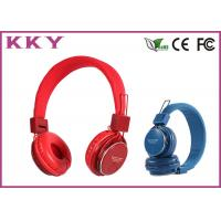 Cheap Professional Red / Pink Cordless Stereo Headphones / Sports Headphones for sale