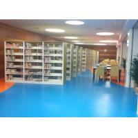 Cheap Anti - Scratch Indoor Rubber Flooring For Educational Field / Library / Exhibition Hall for sale