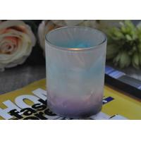 Cheap Unique Design Glass Candle Holders Feather Painted Candle Glass Jars for sale