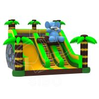 Cheap Large New Inflatable Slide Inflatable Elephant Slide With Climbing Handle Water Slide for sale