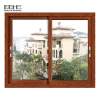 Cheap Economic Red Aluminium Horizontal Sliding Windows With Insect Screen 4mm for sale