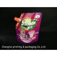Cheap Plastic Customized Stand Foil Spout Pouch With Cap For Packing Juice for sale
