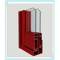 Lightweight Window Aluminum Profile Corrosion Resistance Red Color Smooth Surface