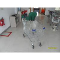 Buy cheap Baby Capsule Anti Theft Supermarket Shopping Carts 210L With Clear  Powder Coating from wholesalers