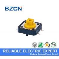 Cheap Yellow Square Button SMD Tactile Switch 4 Pin Light And 12X12X7.3mm Size for sale