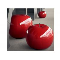 Cheap Large Painted Sculpture Red Apple Decorative Fiberglass Sculpture 120 Cm High for sale