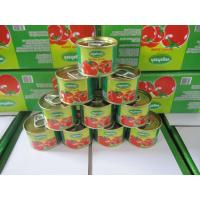 Cheap 28-30 Tomato paste 70gX50tins, raw material tomato sauce manufacture from China for sale