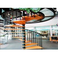 China Customized interior prefabricated stairs used spiral staircase red oak lumber on sale