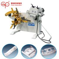 Cheap Sheet Metal Steel Roll Leveling Machine Uncoiler With Straightening Machine 2 In 1 for sale