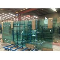 Cheap 8mm/10mm/12mm Thick Tempered Safety Glass Door with Grooves / Holes for sale