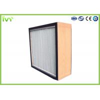 Cheap H10 - H14 HEPA Air Filter Deep Pleat Type Uniform Distribution Of Airflow for sale