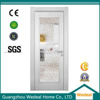 Factory Supply White Wood Interior Panel Doors with Glass Panel