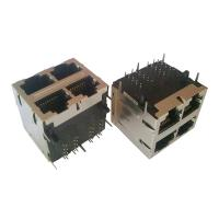 Cheap Integrated Magnetics 2x2 RJ45 750 Mating Cycles 7.7Kg Retention Strength for sale