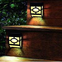 Cheap Warm White Solar Outdoor Wall Lights 2 Modes For Front Door , Stair , Landscape for sale