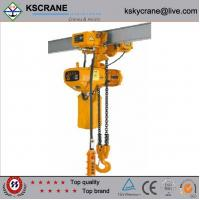 Cheap 1ton electric chain hoist with manual trolley for sale