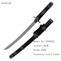 Cheap decorative short samurai sword   with wood stand for sale