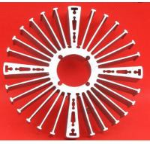 Buy cheap OEM ODM Sunflower  High Performance Extruded Aluminum Heatsink For Ceiling Light Radiator from wholesalers