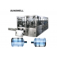 Cheap Motor Drive 19L Bottled Water Filling Line With PLC Control System for sale
