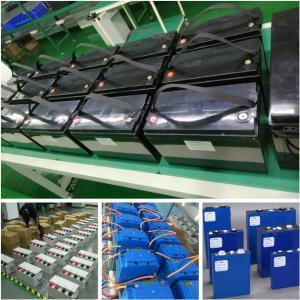 China lithium phosphate battery 12V -96V, 10Ah -1000Ah built-in BMS bluetooth for EV RV electric forklift on sale