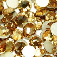 Cheap non hot fix rhinestones trimming crystal beads ss10 topaz for sale