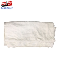 Cheap 50kg/Bale 55cm White Cotton Wiping Rags for sale