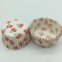 Cheap Cherry Pattern Greaseless Cupcake Liners, Muffin Cake Paper Cups For Children Party for sale