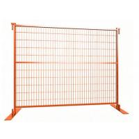 Cheap 8 foot x 9.5 foot temporary fence panels powder coated at Orange Color for sale