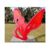 Cheap Large Size Metal Butterfly Sculpture Stainless Steel For Garden Landscape for sale