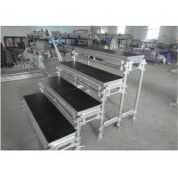 Aluminum Movable Portable Staging Systems Strong Loading For Audience Singing Manufactures
