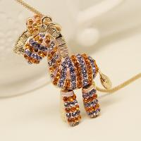 Cheap Fashion Jewelry Buy from China Aliexpress Alibaba Ebay Amazon Supplier Horse Pendant Adorable Gift Neckalce for Women for sale