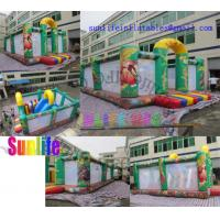 Cheap Children Jungle Inflatable Bouncy Castle With slide / Jumping Castle For Rent for sale