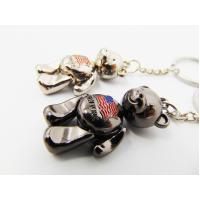 Cheap Girls Gifts Aluminum Alloy Metal Souvenir , Metal Teddy Bear Keyring For Ornaments for sale