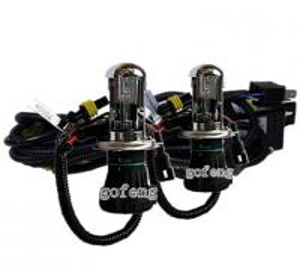 Cheap Custom H4 Hi / Lo Bi 4300K / 6000K / 8000K HID Xenon Headlamps with Anti UV Quartz Glasses for sale