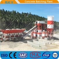 Cheap SGS 18.5x2KW 50m3/h HZS50 RMC Batching Plant for sale