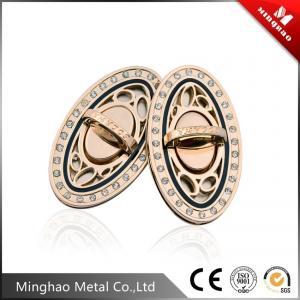 71.44*41.15mm Light gold oval handbag twist lock,metal bag twist lock