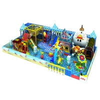 Buy cheap Big Kids Indoor Playground Equipment With Trampoline Jumping from wholesalers