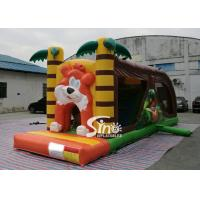 Cheap Cartoon kids Bouncy Castle Inflatable jump house with slide For kids Inflatable Game for sale