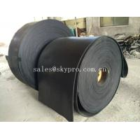 Cheap Multi-ply black EP rubber conveyor belt abrasion and heat resistant for sale