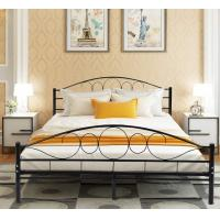 Cheap Durable Black Metal Platform Bed , Heavy Duty Queen Bed Frame Rust Proof for sale