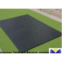 China Black Cattle Mats Rubber Horse Stall Mats 12-25mm Thickness Anti Rust on sale