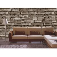Cheap Gravel PVC 3D Home Wallpaper for bedroom / house walls , Soundproof for sale