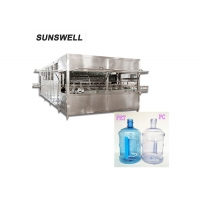 Cheap 300BPH 20L Automatic Jar Filling Machine With Multiwashing Liquid Spray for sale