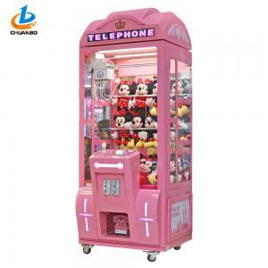 Crown Pink Arcade Crane Machine / Toy Grabber Machine Aluminium Frame