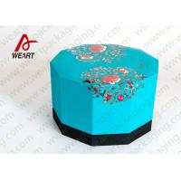 Cheap Blue Lid & Black Base Cardboard Food Packaging Boxes , Decorative Cardboard Boxes With Lids for sale
