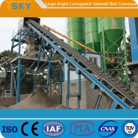 Cheap Large Angle B1400 Corrugated Sidewall Belt Conveyor for sale