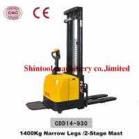 Buy cheap 1400kg Electric Pallet Stacker 600mm Load Center With 1325mm Wheel Base from wholesalers
