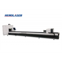 Cheap All kinds material Herolaser 6M CNC Laser Pipe Cutting Machine , Tube Laser Machine for sale