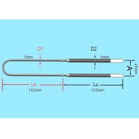 China 1700C Silicon Molybdenum MoSi2 Rod Electric Heating Elements on sale