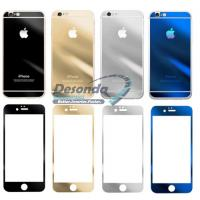 Cheap Mirror Colored Tempered Glass Full Cover For Iphone 6 Plus Front Back for sale